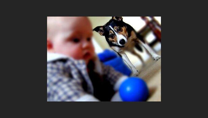 Bērns un suns. Foto: Bradley Mason