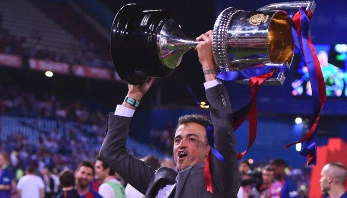 Barcelona coach Luis Enrique won Spanish Copa