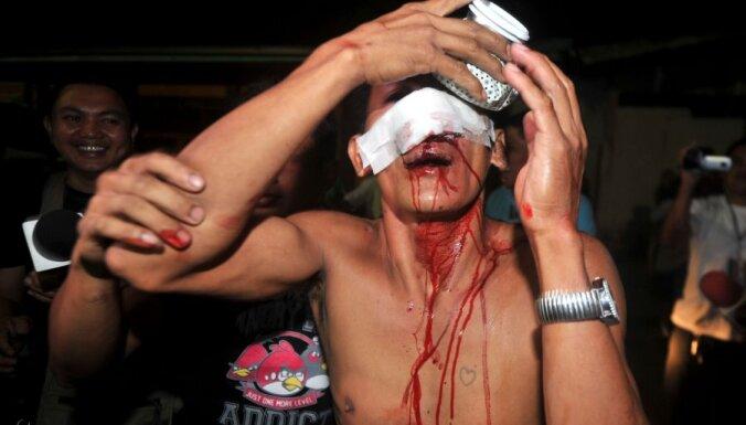 Filipīnās no pirotehnikas savainojumus guvušo skaits pieaudzis līdz 500