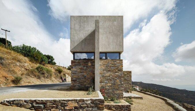 Vecās un jaunās ēkas apvienojums – māja uz salas Grieķijā