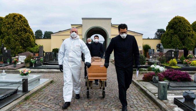 Covid-19: Itālijā atkal reģistrēts nāves gadījumu tempa pieaugums