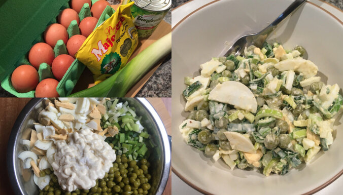 Students virtuvē: elementārie salāti 'Esmu lepns vientulītis'