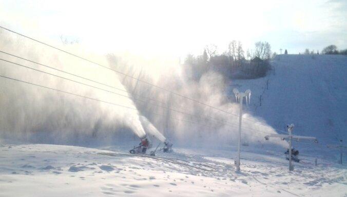 'Žagarkalns' šonakt plāno sākt sniega ražošanu