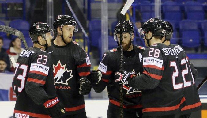 Kanādas hokejisti aptur Francijas izlases centienus atspēlēties