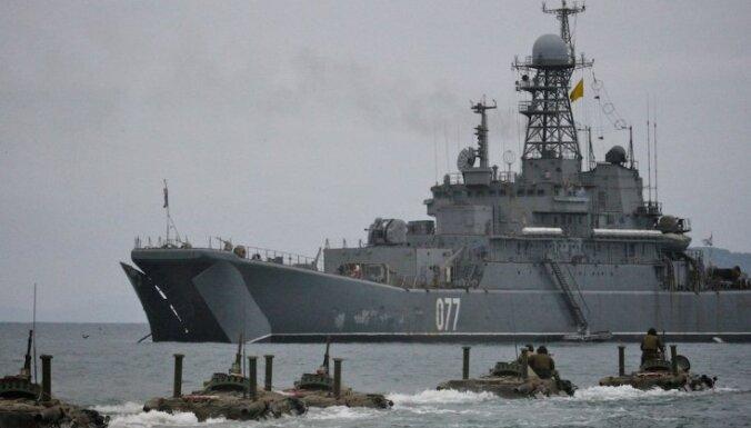 Latvijas teritoriālo ūdeņu tuvumā manīts Krievijas karakuģis