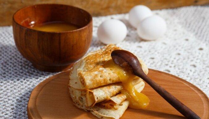 Блинчики с медом и творогом Palatschinken
