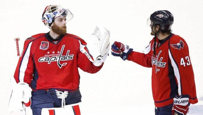 Vašingtonas 'Capitals' vārtsargs Holtbijs iekļuvis NHL vēsturē