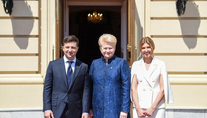 После инаугурации Зеленский встретился с Далей Грибаускайте