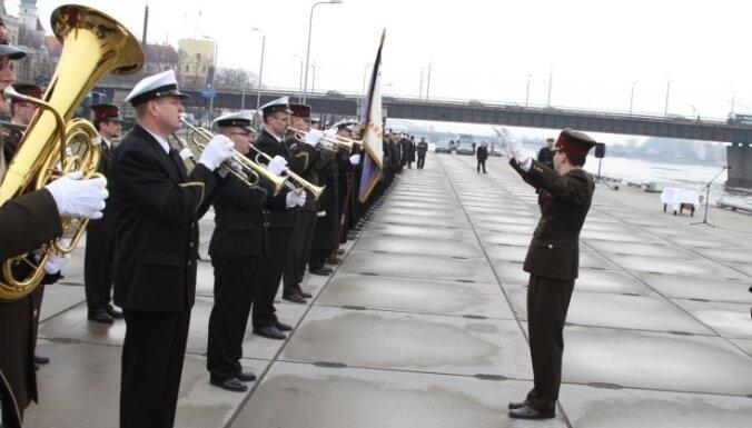 Fotoreportāža: svin Jūras spēku flotiles 20.gadadienu