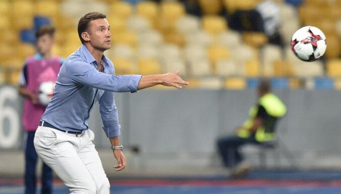 Ukraine's head coach Andriy Shevchenko