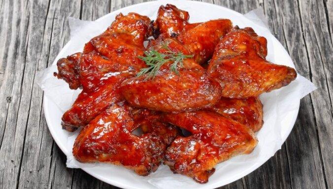 Куриные крылышки с кетчупом и уксусом