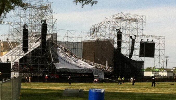 Sabrūkot skatuvei pirms 'Radiohead' koncerta, bojā gājis viens cilvēks