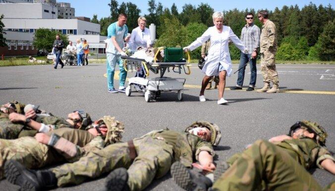 В Латвии пройдут военные учения по отработке действий в случае ЧП с большим количеством пострадавших