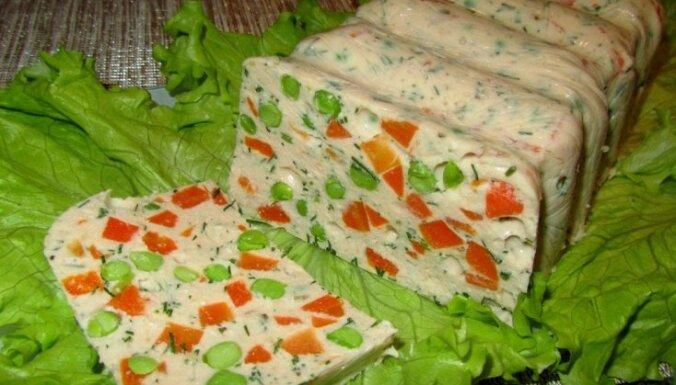 Vistas filejas un dārzeņu 'desa' kaloriju skaitītājiem