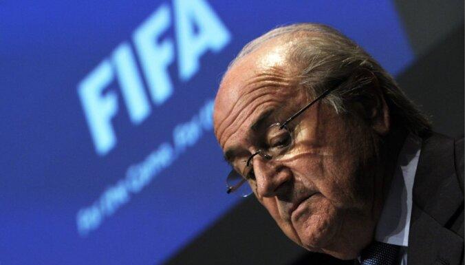 Blaters pārvēlēts FIFA prezidenta amatā