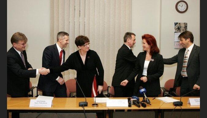 Partiju apvienību 'Vienotība' dibinās martā