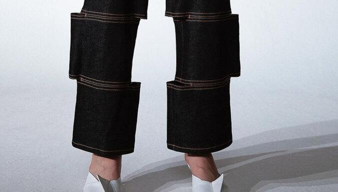 ФОТО. Порезали на куски, а затем снова сшили — в сети обсуждают джинсы с оптической иллюзией
