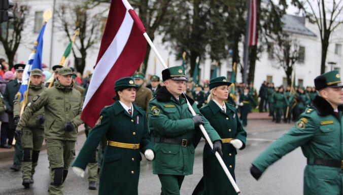 Fotoreportāža no Rēzeknes: Kā robežsardze uzsāka vērienīgas simtgades svinības