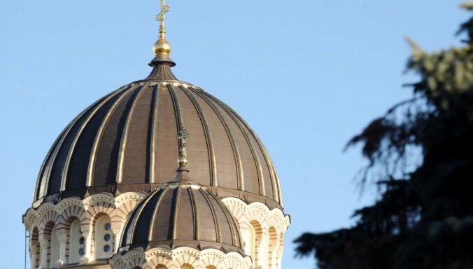 Apzeltīs Rīgas Kristus Piedzimšanas katedrāles centrālo kupolu
