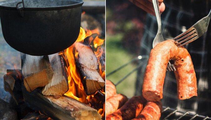 Ēdienreize brīvā dabā – ducis recepšu, ko var gatavot uz ugunskura