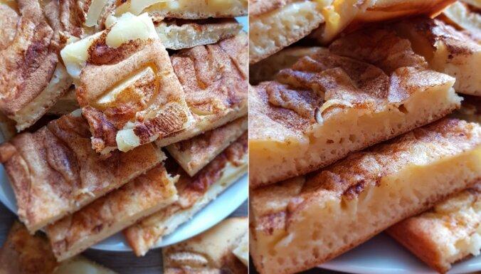 Dienas kārums – ābolu plātsmaize ar kefīra mīklas pamatni