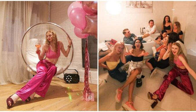 Foto: Populārā pašmāju jūtūbere Evelīna Pārkere ar vērienu nosvin savus 20