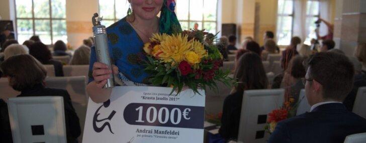 Egona Līva piemiņas balvu 'Krasta ļaudis' saņēmusi Andra Manfelde