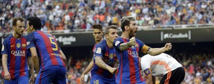 Mesi ar kompensācijas laikā realizētu 'pendeli' izrauj 'Barcelona' uzvaru