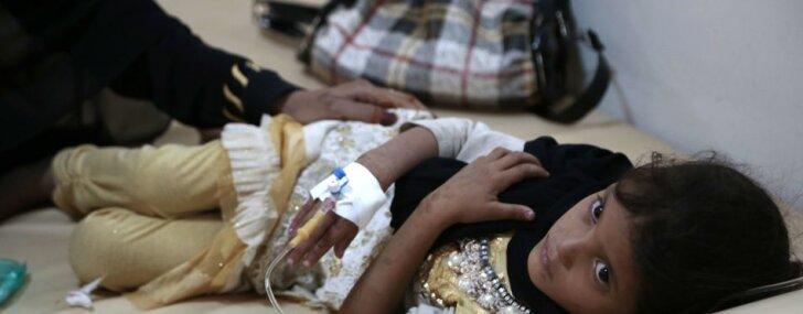 Jemenā 10 nedēļās ar holēru inficējušies 300 tūkstoši cilvēku