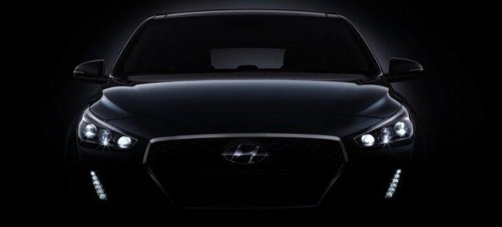 'Hyundai' daļēji atklājis jaunā 'i30' modeļa veidolu