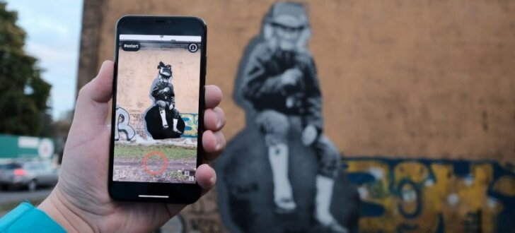 Pārdaugavu grezno igauņu robota zīmēts sienas gleznojums