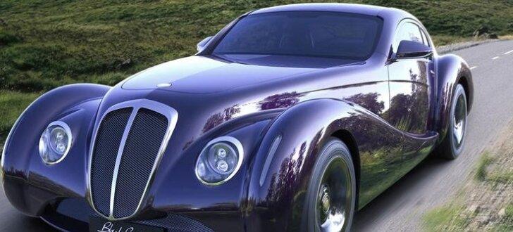 Britu retro stila mūsdienu auto ar V12 dzinēju