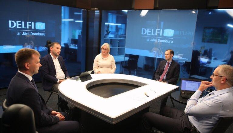 'Delfi TV ar Jāni Domburu' atbild Rīgas pagaidu vadība. Pilns ieraksts