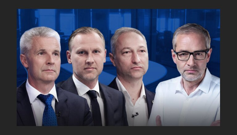 """Delfi TV с Янисом Домбурсом"": в студии Пабрикс, Гобземс и Борданс"