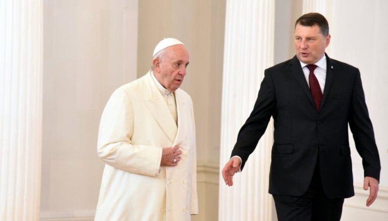 Itālijas apmeklējuma izskaņā Vējonis tiksies arī ar pāvestu Francisku