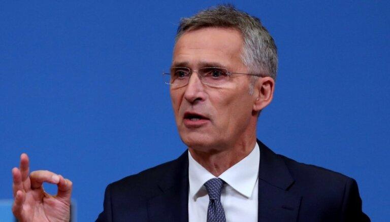 NATO veidos medicīnas preču krājumus, atklāj Stoltenbergs