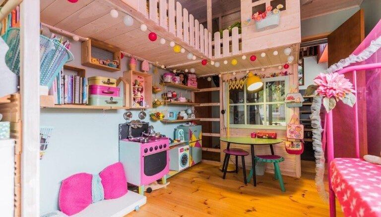 Foto: Rozā pasaku namiņš ķipariem – Igaunijā izvēlēta skaistākā bērnistaba