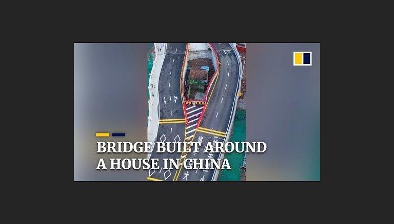 ВИДЕО. В Китае жилой дом оказался внутри шоссе