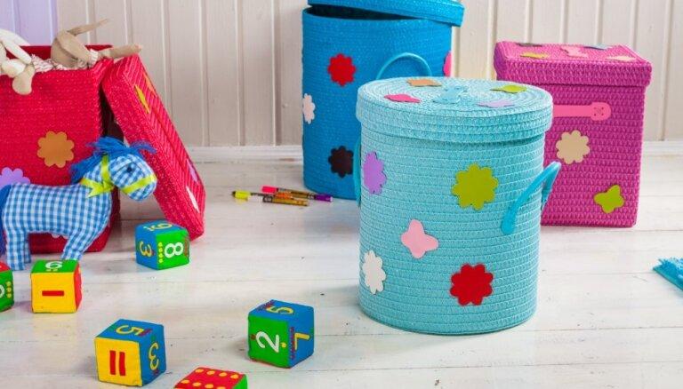 Nebeidzamie bērnu rotaļlietu krājumi – kā tos praktiski un gaumīgi glabāt?