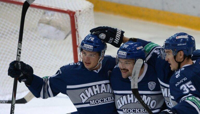 Daugaviņa un Karsuma pārstāvētā Maskavas 'Dinamo' izlīdzina rezultātu sērijā pret 'Lokomotiv'