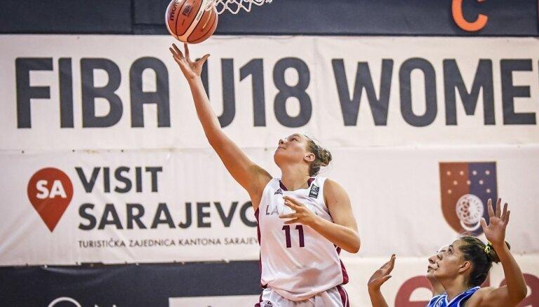 Latvijas U-18 meiteņu basketbola izlase ar uzvaru uzsāk Eiropas čempionātu