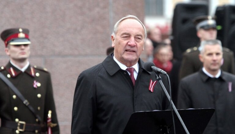 Президент: Латвии нужны храбрые, честные, работящие и любящие родину люди