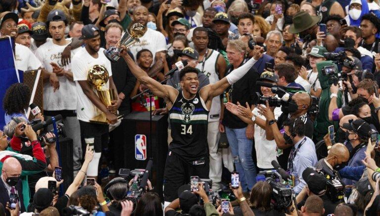 Adetokunbo fenomenālais sniegums sagādā 'Bucks' NBA čempionu titulu