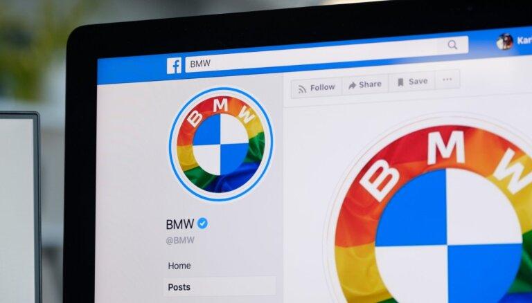 BMW savu logotipu iekrāso praida noskaņās; markas cienītāji dusmīgi