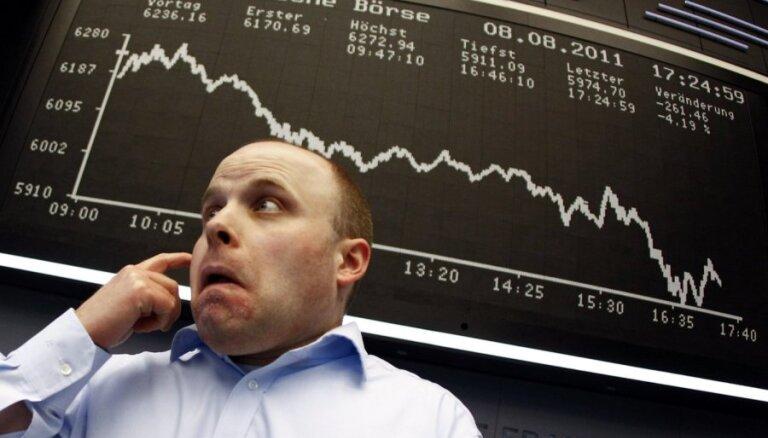 Sliktie dati no eiro zonas un ASV darba tirgiem nogremdē Eiropas akciju cenas