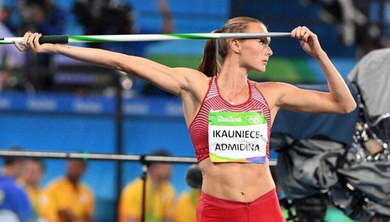 Ikauniece-Admidiņa labo Latvijas rekordu un izcīna trešo vietu sacensībās Gecisā