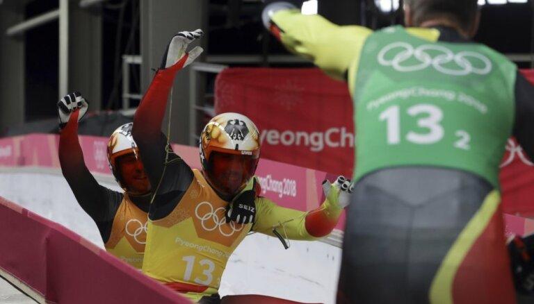XXIII Ziemas olimpisko spēļu rezultāti kamaniņu sportā komandu stafetē (15.02.2018.)