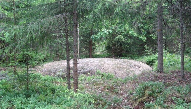 Ziemeļvidzemes lielākais akmens: iespaidīgais dižakmens Rencēnu pagastā