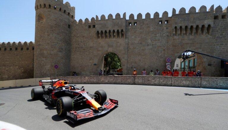 Azerbaidžānas 'Grand Prix' treniņus ar ātrākajiem laikiem uzsāk 'Red Bull'