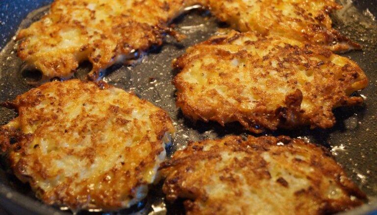 Kartupeļu un ziedkāposta pankūkas